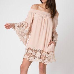 Muche Et Muchette Off the Shoulder Lace Dress